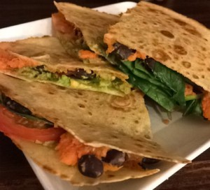 Vegan Sweet Potato GF Quesadilla